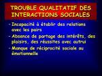 trouble qualitatif des interactions sociales1