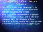 categorizing lan architecture osi model
