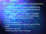 coaxial cable transmission characteristics