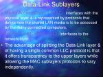 data link sublayers