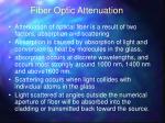 fiber optic attenuation