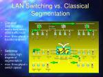 lan switching vs classical segmentation