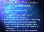 twisted pair transmission characteristics