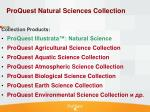 proquest natural science s collection