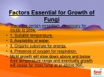 factors essential for growth of fungi