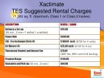 xactimate tes suggested rental charges 1 200 sq ft maximum class 1 or class 2 losses