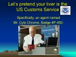 let s pretend your liver is the us customs service