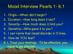mood interview pearls 1 6 11