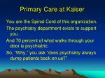 primary care at kaiser