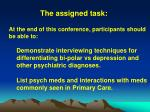 the assigned task