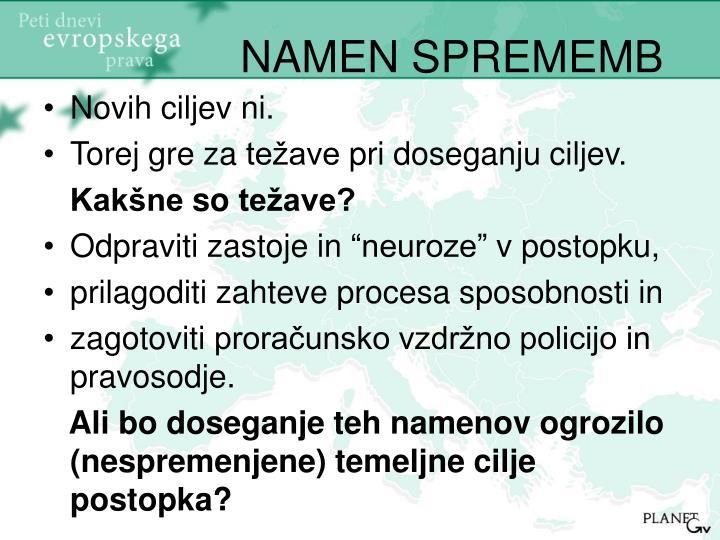 NAMEN SPREMEMB