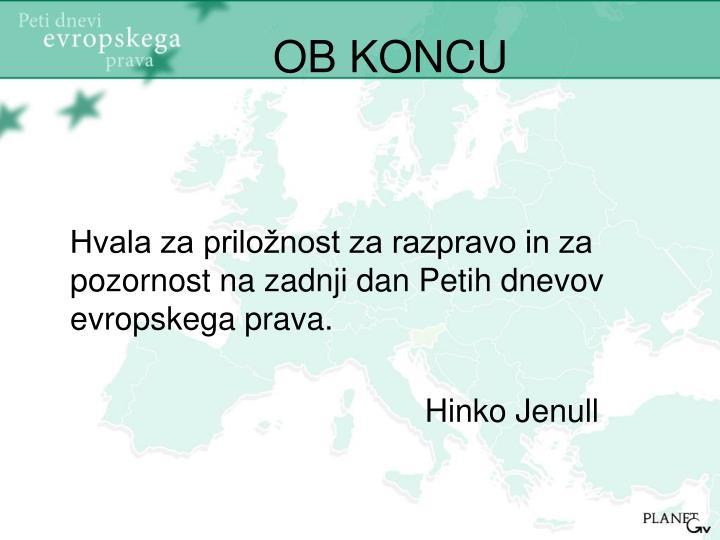 OB KONCU