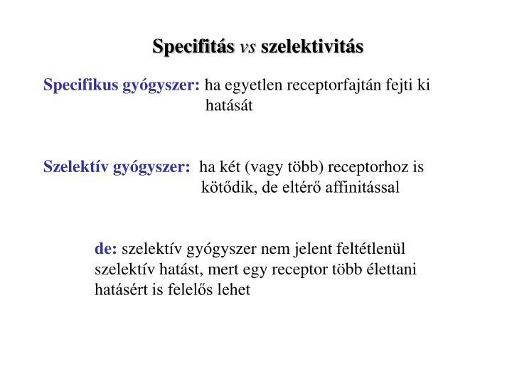 Specifitás