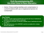 draft decommissioning eis site wide close in place alternative