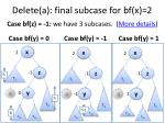 delete a final subcase for bf x 2