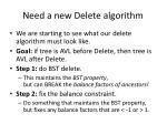 need a new delete algorithm