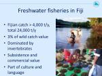 freshwater fisheries in fiji