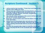 scripture continued joshua 3