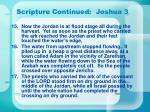 scripture continued joshua 31