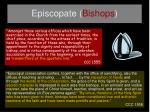 episcopate bishops