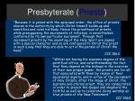 presbyterate priests