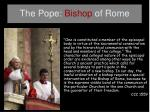the pope bishop of rome