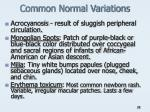 common normal variations
