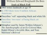 william edward burghardt du bois souls of black folk
