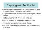 psychogenic toothache