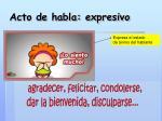 acto de habla expresivo