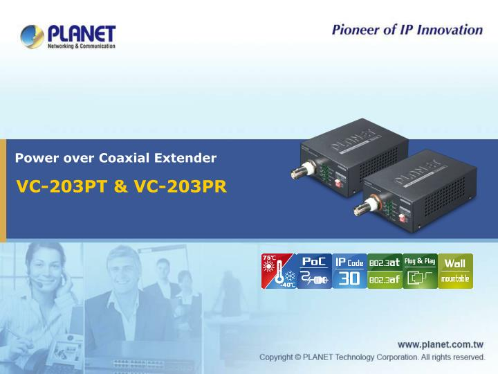 power over coaxial extender n.