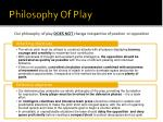philosophy of play
