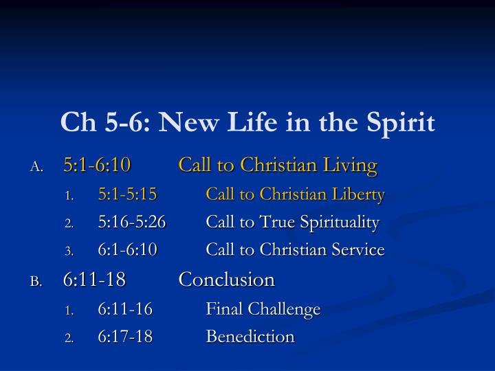 ch 5 6 new life in the spirit n.