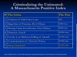 criminalizing the uninsured a massachusetts punitive index
