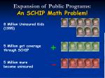 expansion of public programs an schip math problem
