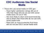 cdc audiences use social media