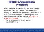 cerc communication principles