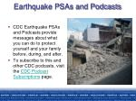 earthquake psas and podcasts