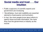 social media and trust our intuition