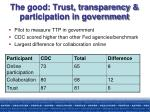 the good trust transparency participation in government