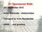 s1 sponsored walk