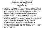 evaluarea na ional legislatie