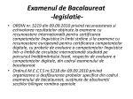 examenul de bacalaureat legislatie
