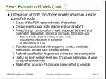 power estimation models cont1