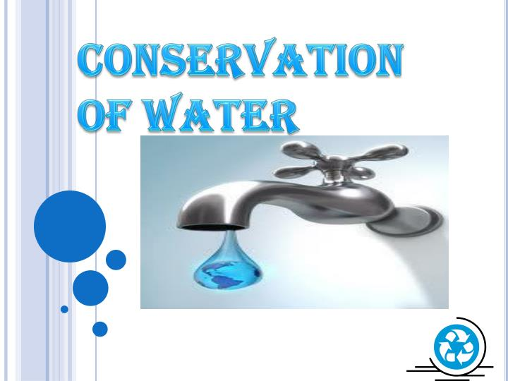 conservation of water n.