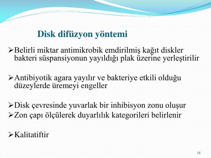 Disk difüzyon yöntemi
