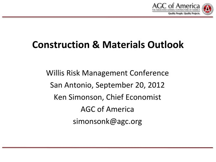 construction materials outlook n.