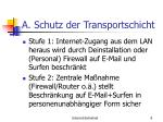 a schutz der transportschicht