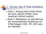 c schutz des e mail verkehrs