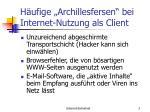 h ufige archillesfersen bei internet nutzung als client